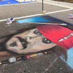Captain Jack Sparrow Chalk Art